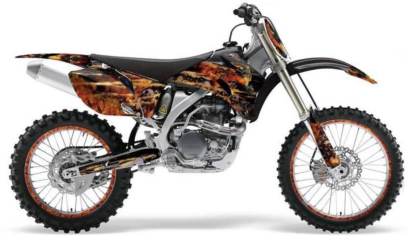 dirtbike flames