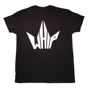 whipriders t-shirt black logo